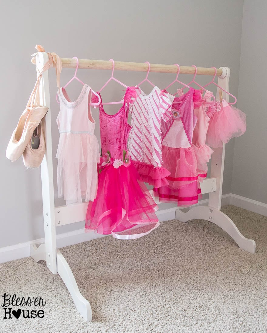 diy dress up rack from a repurposed bassinet cradle. Black Bedroom Furniture Sets. Home Design Ideas