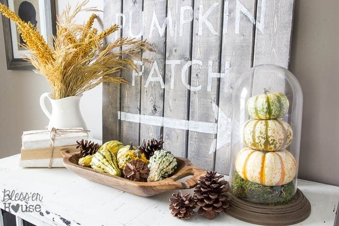 DIY Pumpkin Terrarium from a Thrifted Dome Clock | Bless'er House