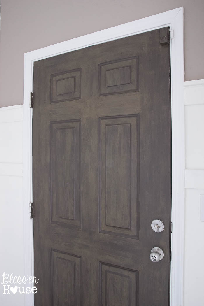 Diy faux wood painted door for Faux wood doors
