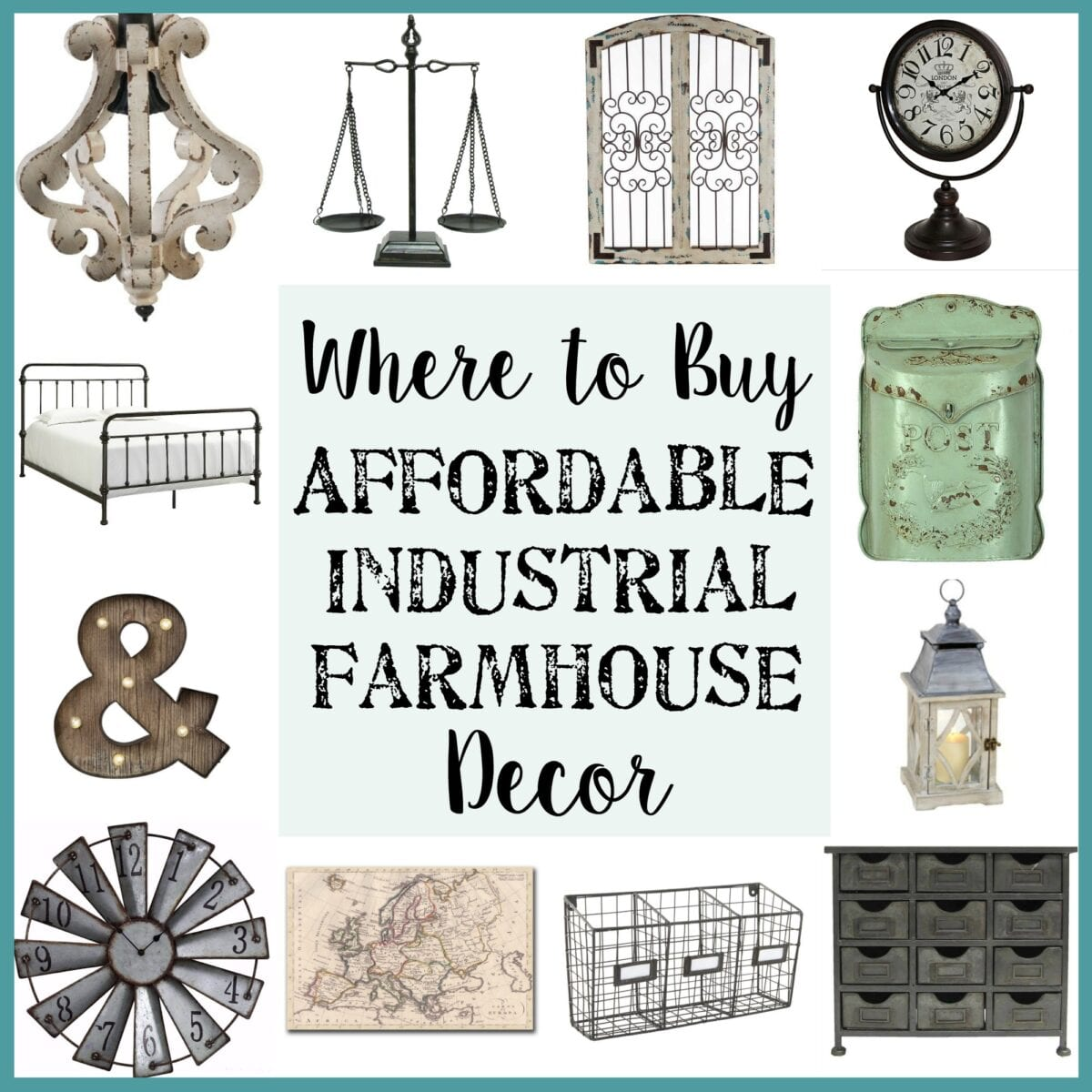 Where to buy affordable industrial farmhouse decor bless for Best place for cheap home decor