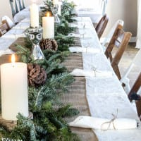 How to Set a Large Holiday Table on a Budget
