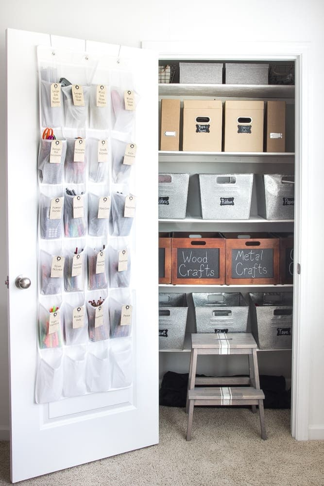 How to Organize a Craft Closet Like a Rockstar | blesserhouse.com