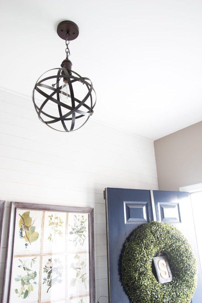 DIY Industrial Orb Pendant Light | blesserhouse.com