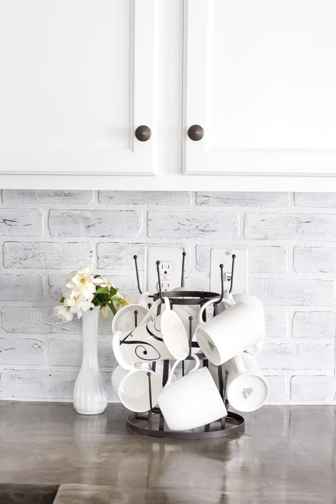 Diy Whitewashed Faux Brick Backsplash Bless Er House
