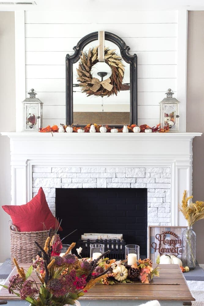 harvest living room decor and a giveaway blesserhousecom simple decorating ideas using