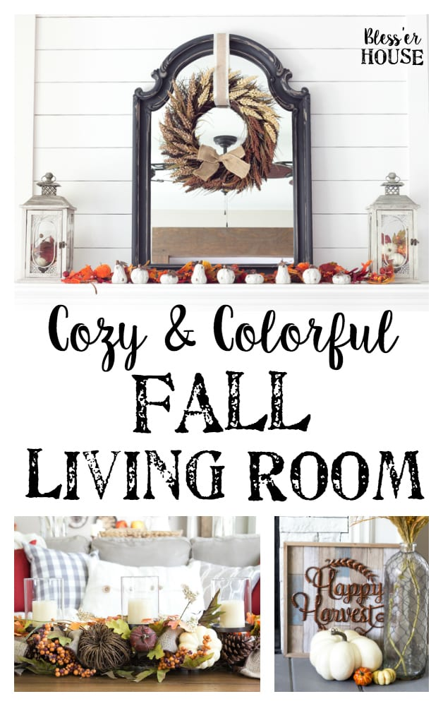 Harvest living room decor and a giveaway bless 39 er house for Kirkland living room ideas