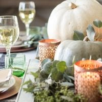 Green and Copper Thanksgiving Tablescape + Printable