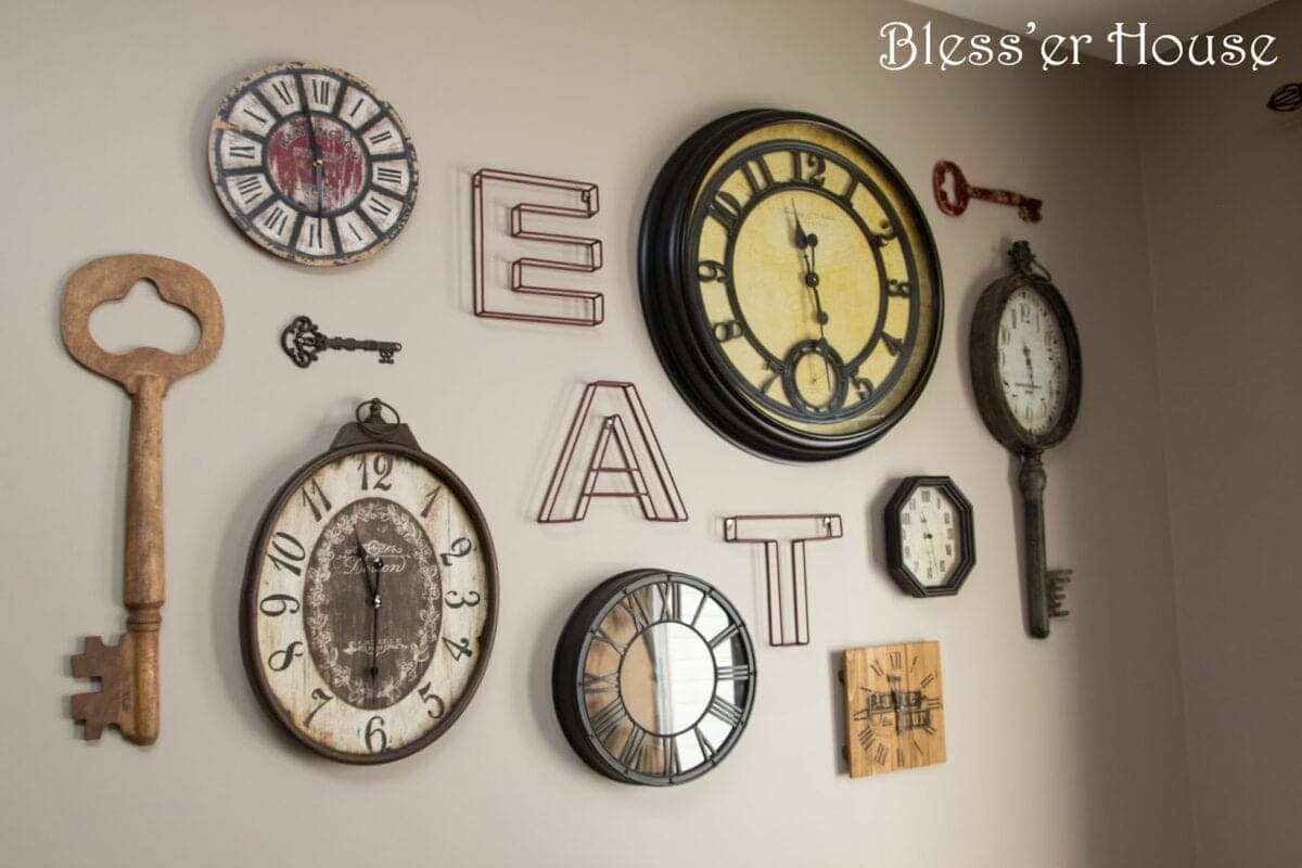 Project: Clock Gallery Wall