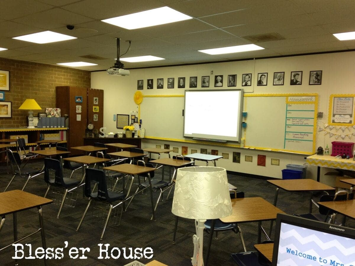 Middle School Reading Classroom Decorations ~ Creating the cozy classroom on a budget bless er house