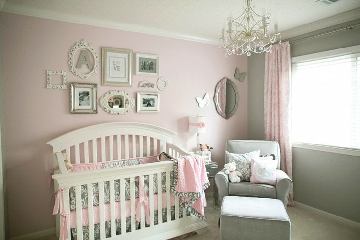 Love The Pink And Gray Color Combination For A Little S Room Just Paint One Project Nursery