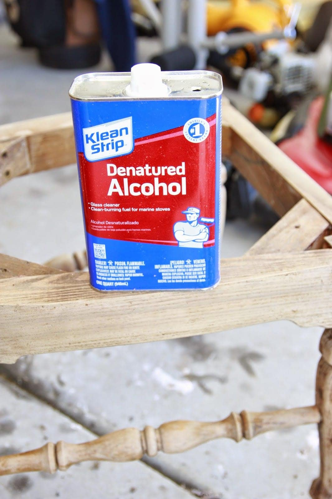 This Klean Strip denatured alcohol saved my project! It makes the stripping process SO much easier!