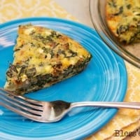 Recipe: Gluten Free Four Cheese Spinach Quiche