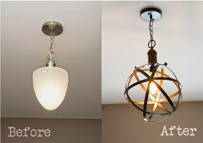 DIY Industrial Rustic Pendant Light - Bless\'er House