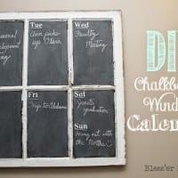 DIY Chalkboard Window Calendar