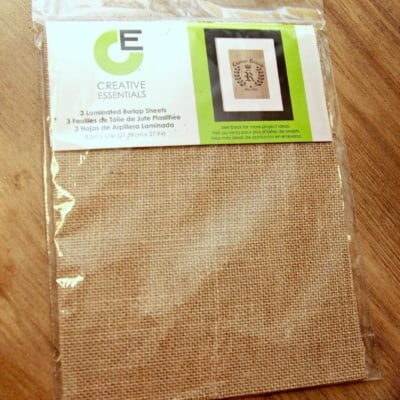 Easy Burlap Art and Powder Room Progress