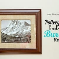 How to Make a Pottery Barn Knock-Off Burlap Mat