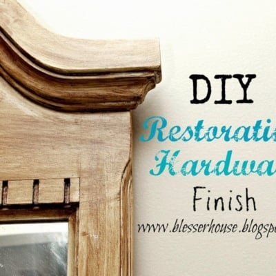 DIY Restoration Hardware Finished Mirror