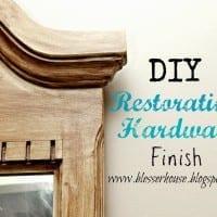 DIY Restoration Hardware Finished Mirror