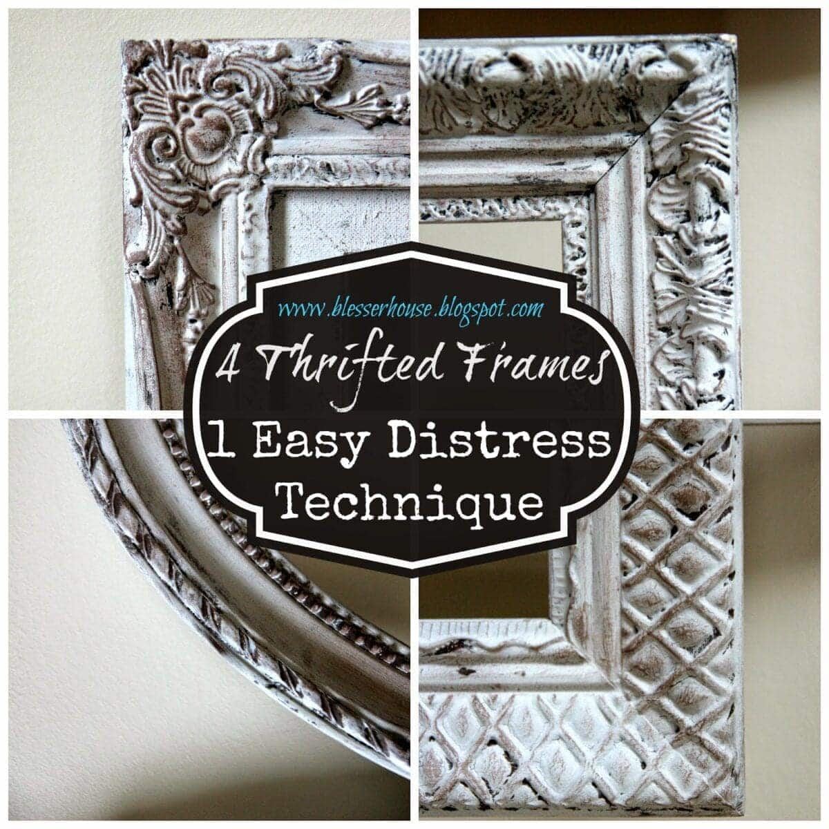 Strange 4 Thrifted Frames 1 Easy Distress Technique Blesser House Download Free Architecture Designs Terstmadebymaigaardcom