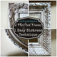4 Thrifted Frames, 1 Easy Distress Technique