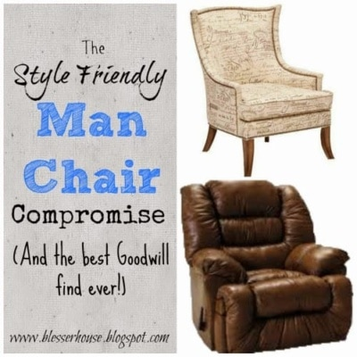 The Style Friendly Man Chair Compromise