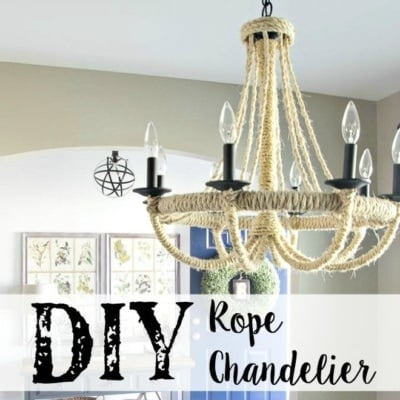 DIY Restoration Hardware Knock-Off Rope Chandelier