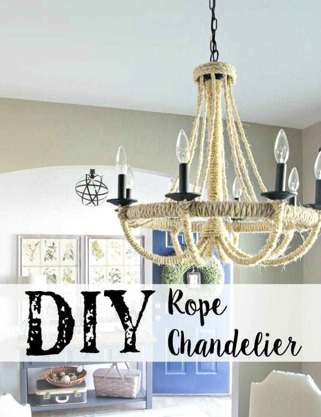 Diy restoration hardware knock off rope chandelier blesser house diy rope chandelier fin aloadofball Gallery