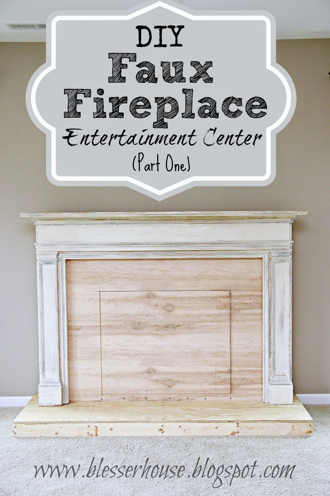Diy Faux Fireplace Entertainment Center Part One Bless Er