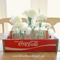 Goodwill Find: Vintage Coca-Cola Crate Centerpiece