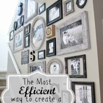 The Most Efficient Way to Create a Gallery Wall