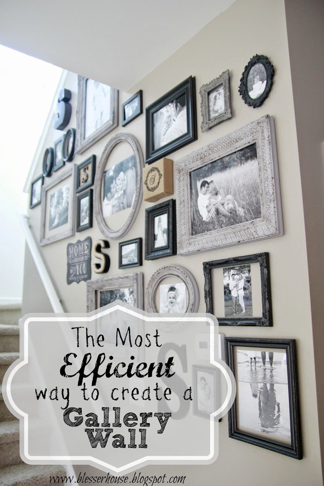 the most efficient way to create a gallery wall bless'er house