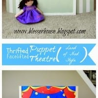Thrifted Puppet Theatre Facelift (Land of Nod Style)