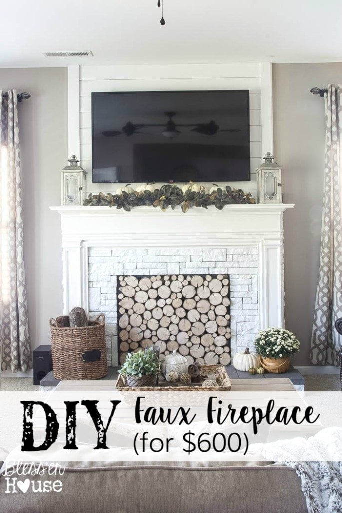 diy faux fireplace for under 600 the big reveal bless er house rh blesserhouse com