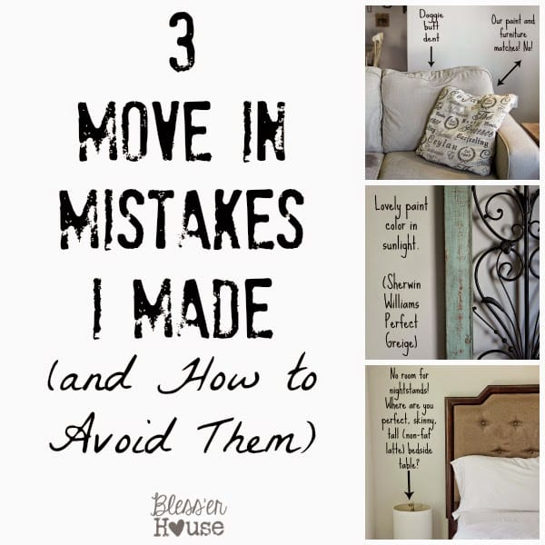 3 Move In Mistakes I Made   Bless'er House