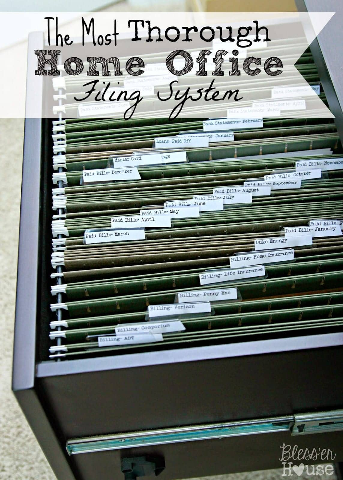 Amazing Organizing The Most Thorough Home Office Filing System   Blessu0027er House