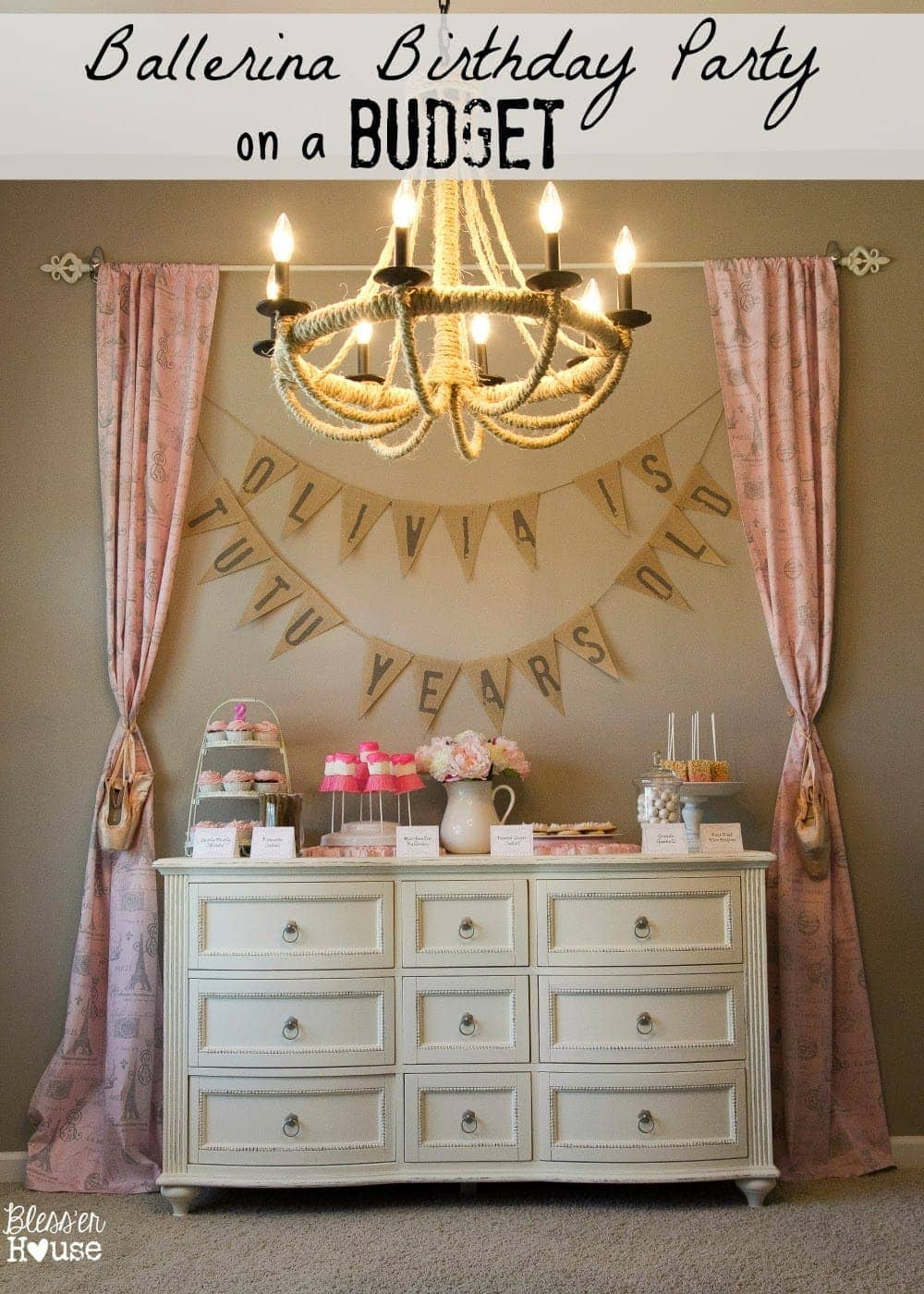 A Ballerina Birthday Party On A Budget Bless Er House