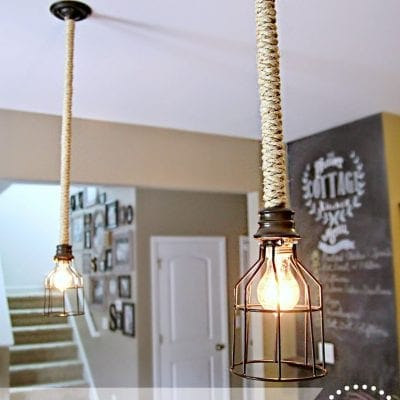 DIY Industrial Pendant Light for Under $10