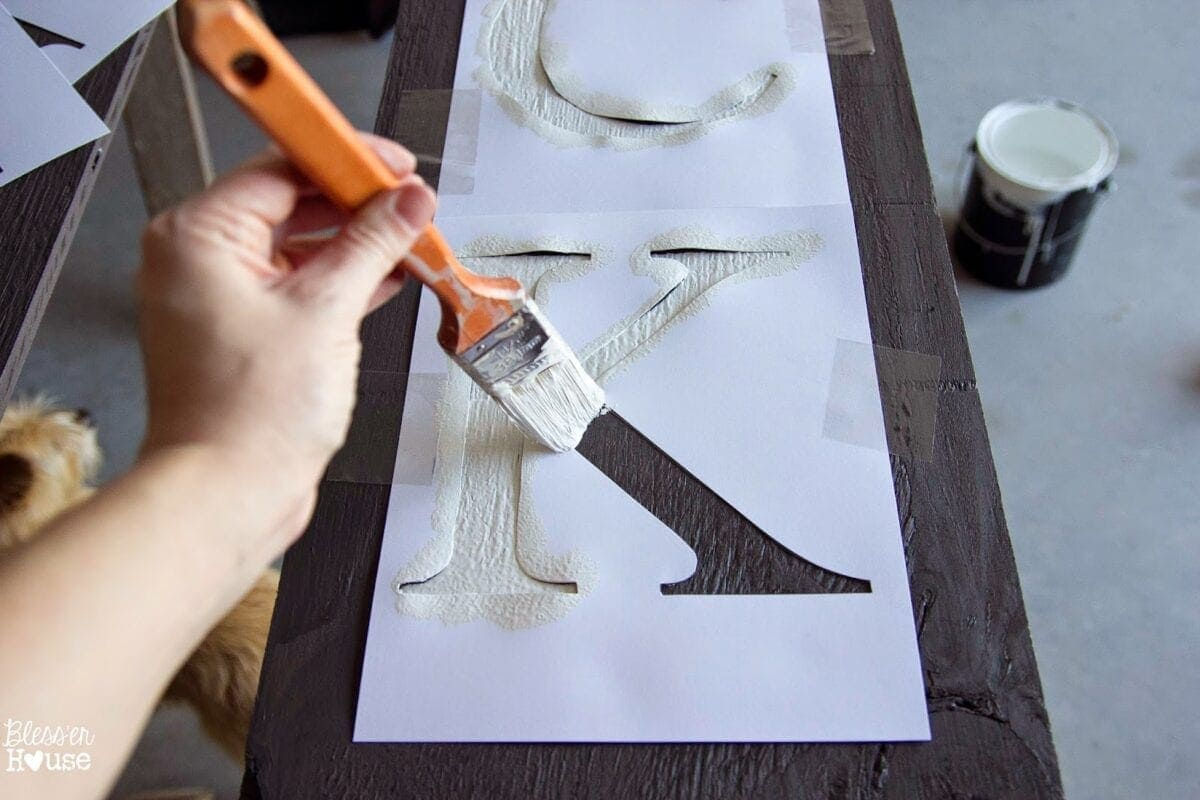Bless'er House   DIY Halloween Sidelight Signs {and Fall Porch Reveal}