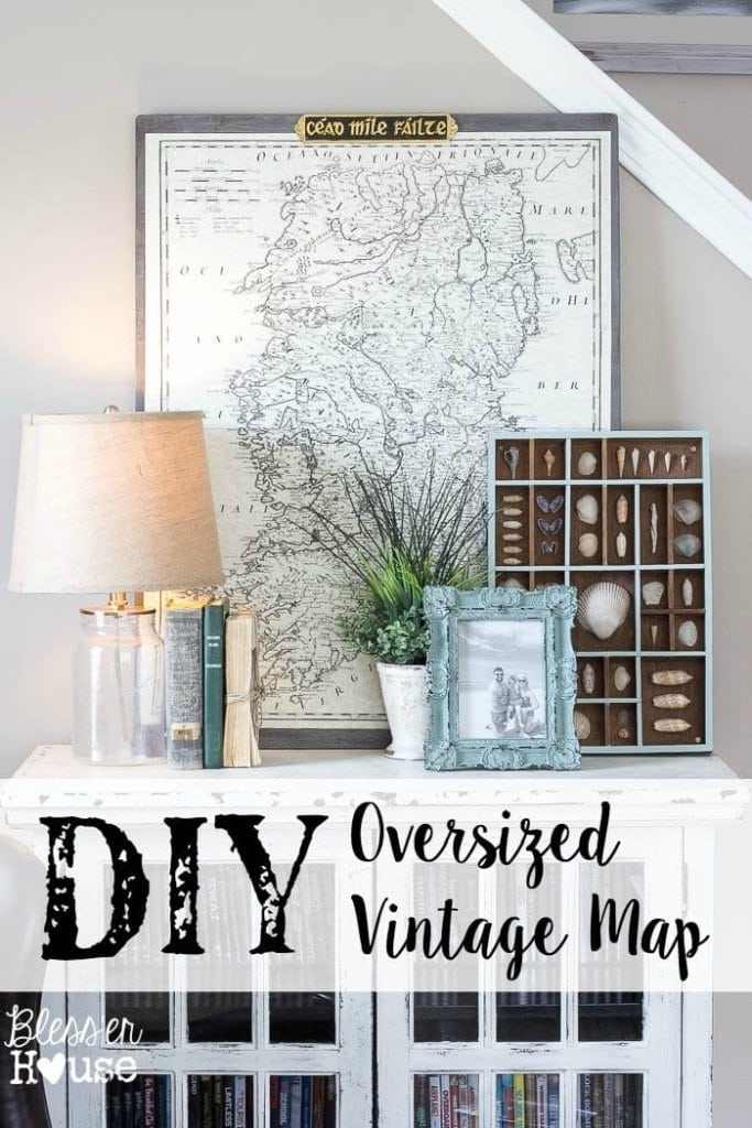 DIY Oversized Vintage Map
