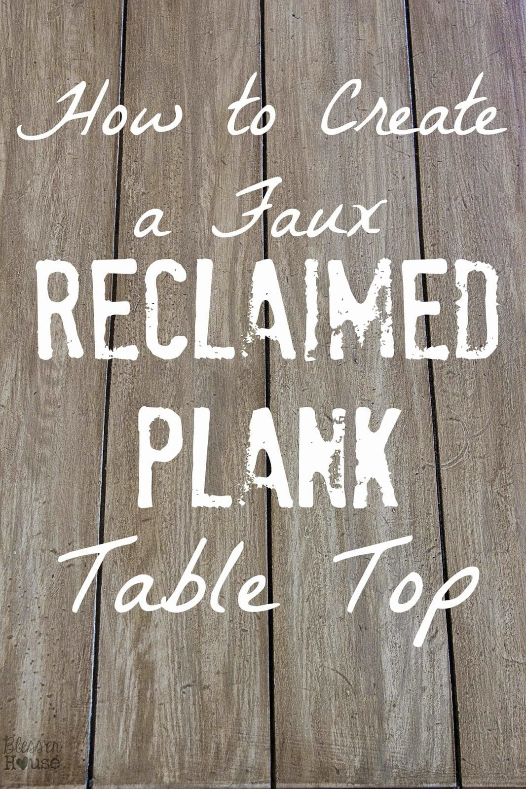 Faux Reclaimed Wood Table Top How To Bless Er House