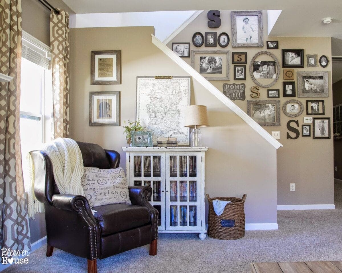 Bless'er House   Eclectic Gallery Wall Reveal and Free Printable