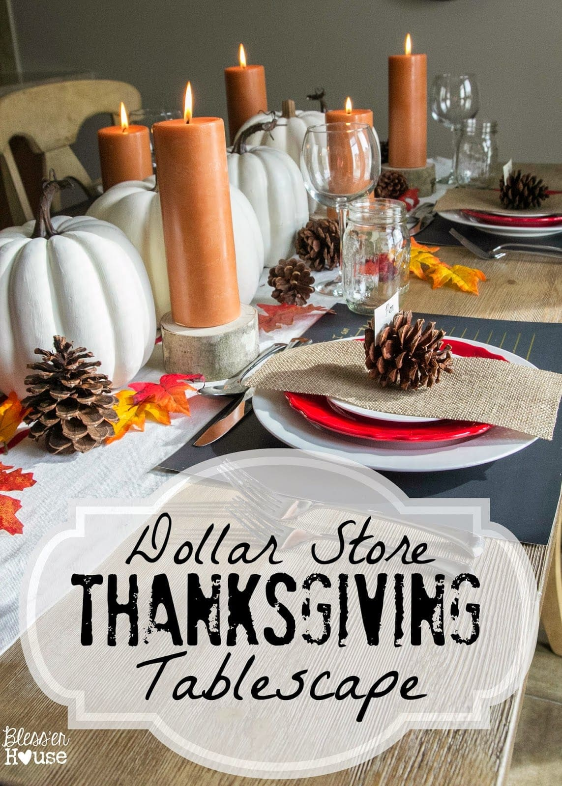 Dollar Store Thanksgiving Tablescape