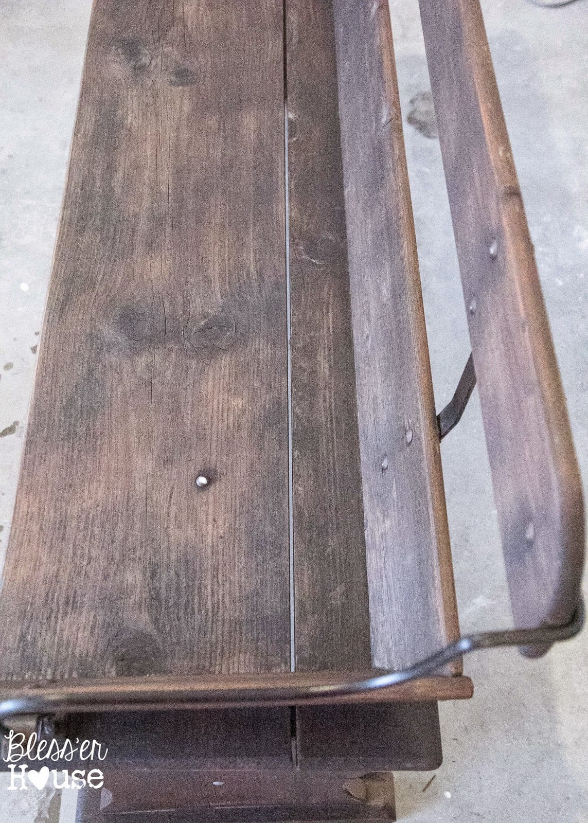 Bless'er House   Beginnings of an Entryway: How to Restore Reclaimed Wood