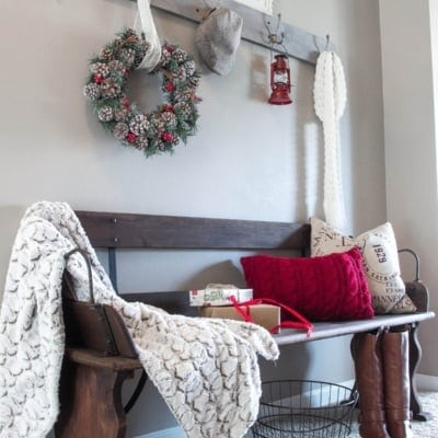 Holiday Home Tour Sneak Peek: Rustic Christmas Entryway