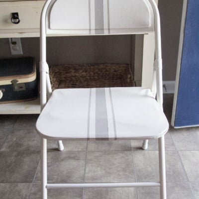Easy Grainsack Style Folding Chair Makeover