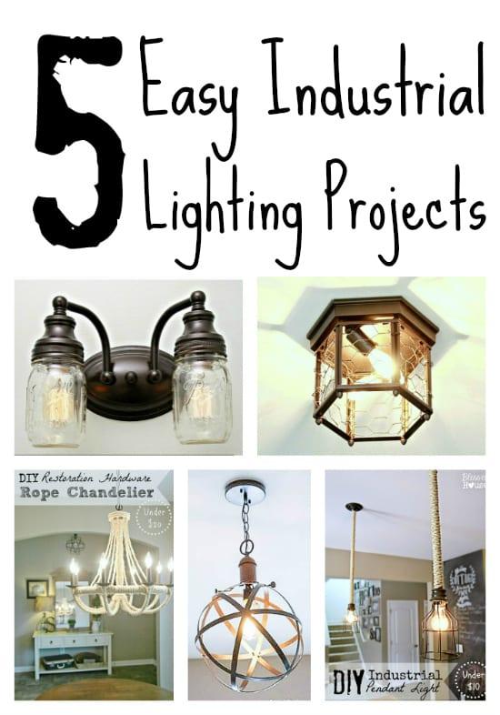 sc 1 st  Blessu0027er House & 5 DIY Industrial Light Fixtures for Under $25 - Blessu0027er House