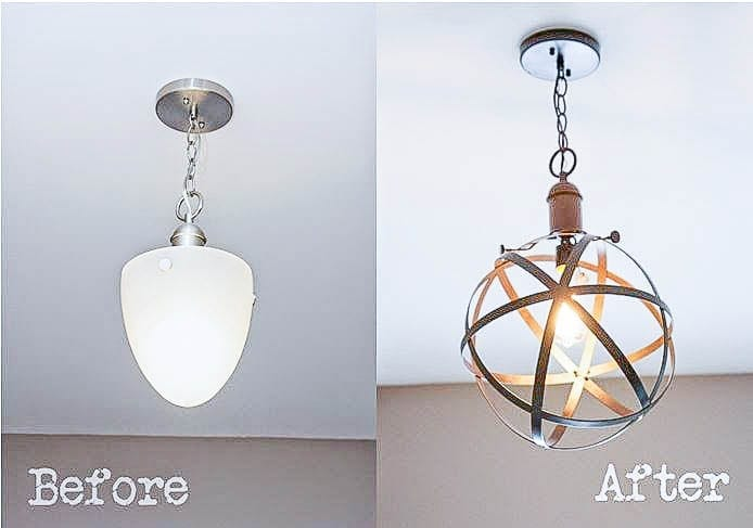 Bless'er House | 5 DIY Industrial Light Fixtures for Under $25