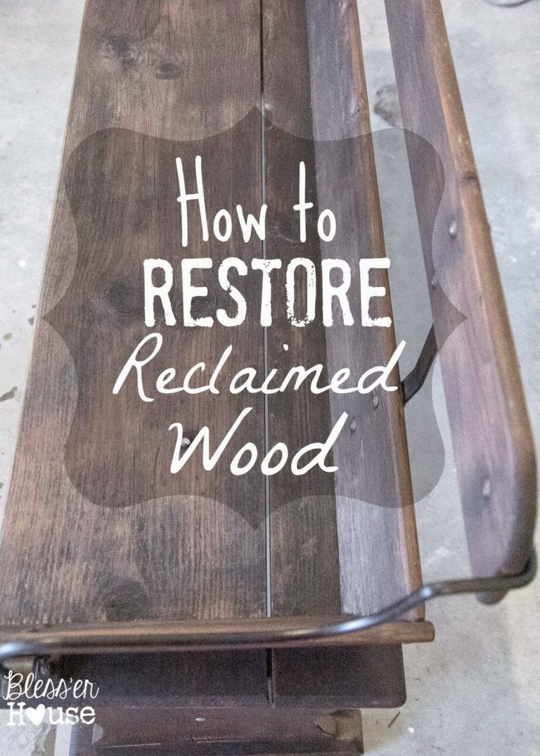 Beginnings of an Entryway: Restoring a Reclaimed Wagon Bench
