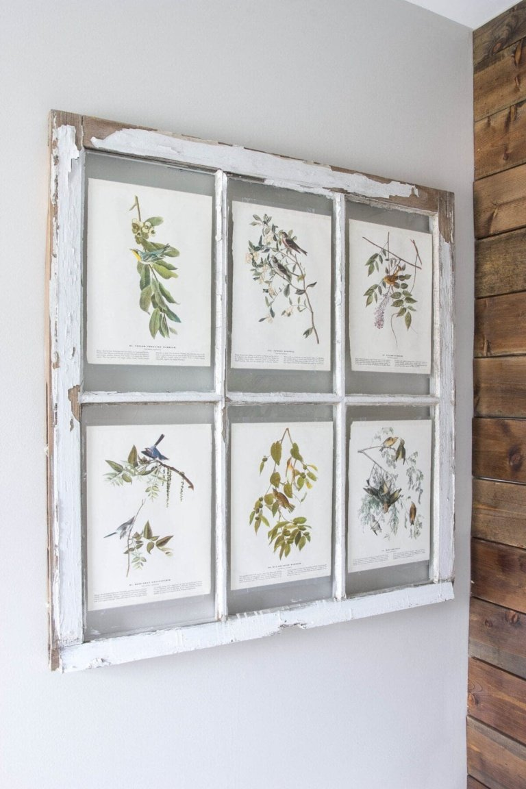 Spring Inspired Window Wall Decor