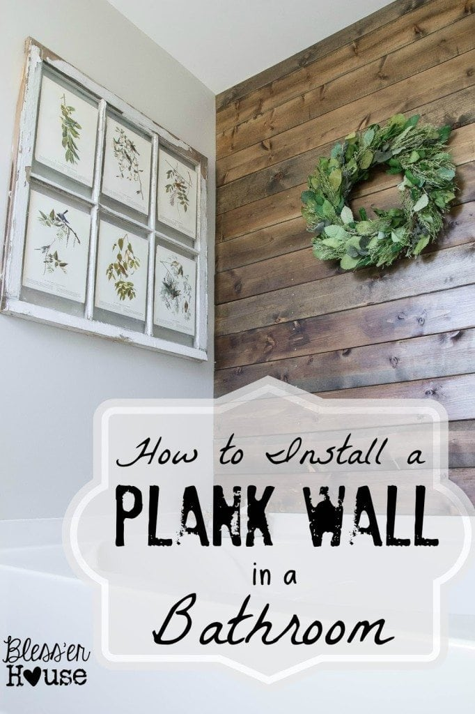 I used this all natural wood stain method when I stained this plank wall in our bathroom.